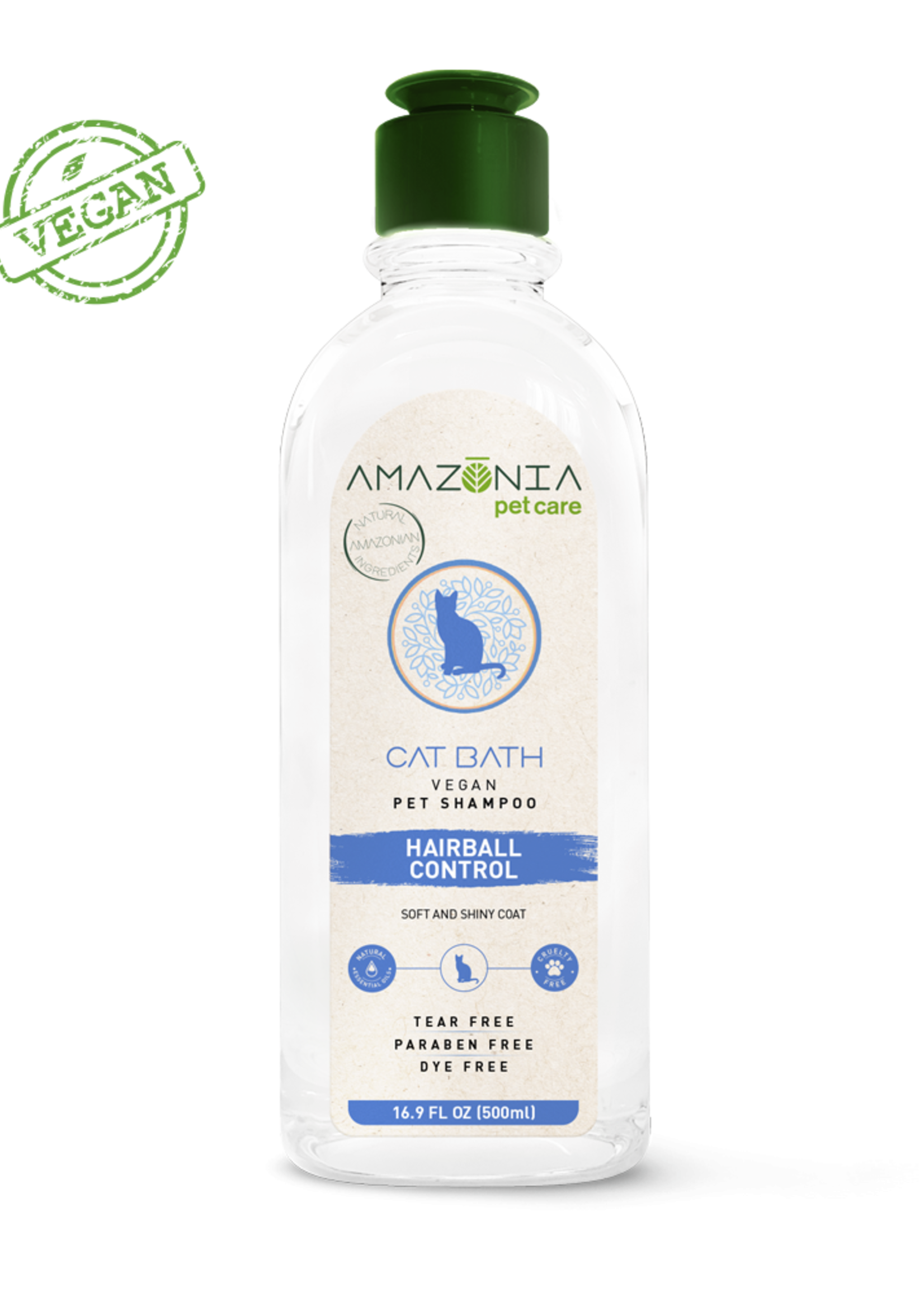 Amazonia Pet Care Amazonia Cat Bath Hairball Control Shampoo 16.9oz