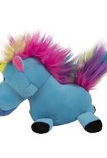GO DOG Blue goDog Unicorns with Chew Guard Technology Durable Plush Dog Toy Small