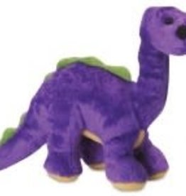 GO DOG goDog Dinos Bruto with Chew Guard Technology Tough Plush Dog Toy Purple Smal
