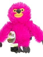 GO DOG goDog Fuzzy Sloth Durable Plush Dog Toy Pink Large