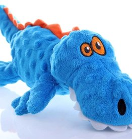 GO DOG goDog Gators with Chew Guard Technology Tough Plush Dog Toy Blue Large