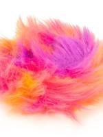 GO DOG Small Warm Rainbow goDog Furballz Rings Durable Plush Squeaker Dog Toy