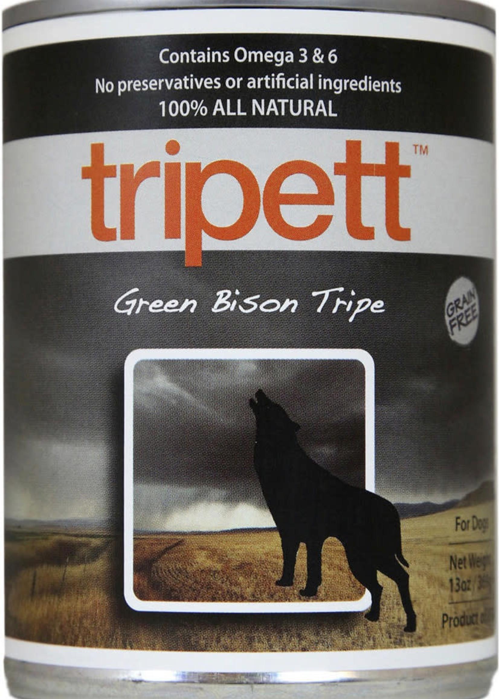 Petkind Tripett GF Green Bison Tripe K9 13oz
