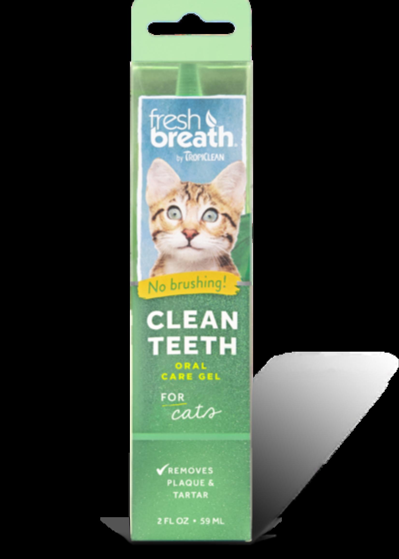 Tropiclean Manufacturing TropiClean Cat Fresh Breath Teeth Gel Kit 2 oz