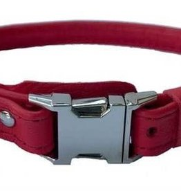 "Euro-Dog Euro-Dog QR Rolled 3/4in Collar 18-20"" Collar Red Large"