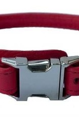"Euro-Dog Euro-Dog QR Rolled 3/4in Collar 20-22"" Red XL"