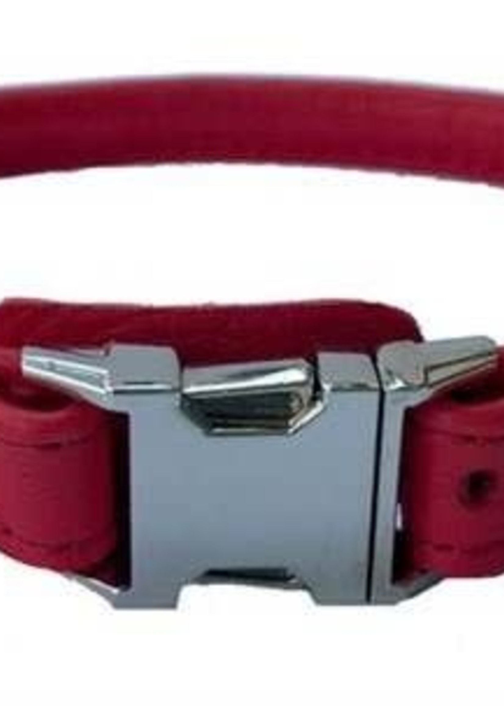 """Euro-Dog Euro-Dog QR Rolled 3/4in Collar 20-22"""" Red XL"""