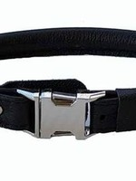 """Euro-Dog Euro-Dog Quick Release 5/8in Rolled Collar 12-13"""" Black XS"""