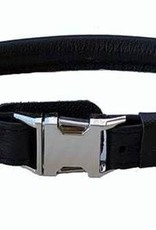 "Euro-Dog Euro-Dog Quick Release 5/8in Rolled Collar 16-17"" Black Medium"
