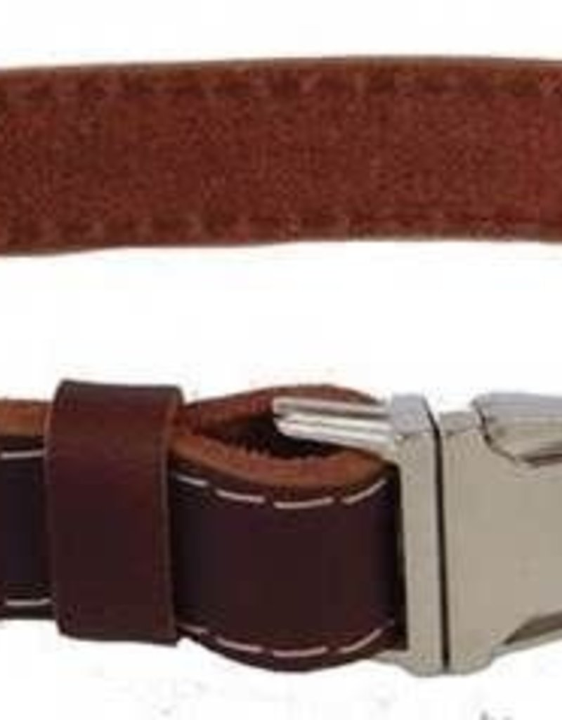 Euro-Dog Euro-Dog Quick Release Collar Burgandy Large