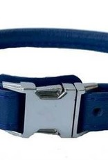 Euro-Dog Euro-Dog Quick Release Rolled Collar Navy Medium