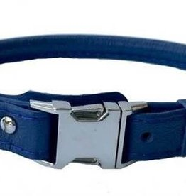 Euro-Dog Euro-Dog Quick Release Rolled Collar Navy Small