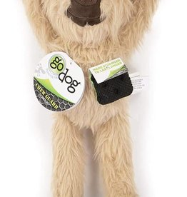 GO DOG GoDog Crazy Tugs Sloths w/Chew Guard Tech Plush Squeaker Dog Toy, Small, Tan