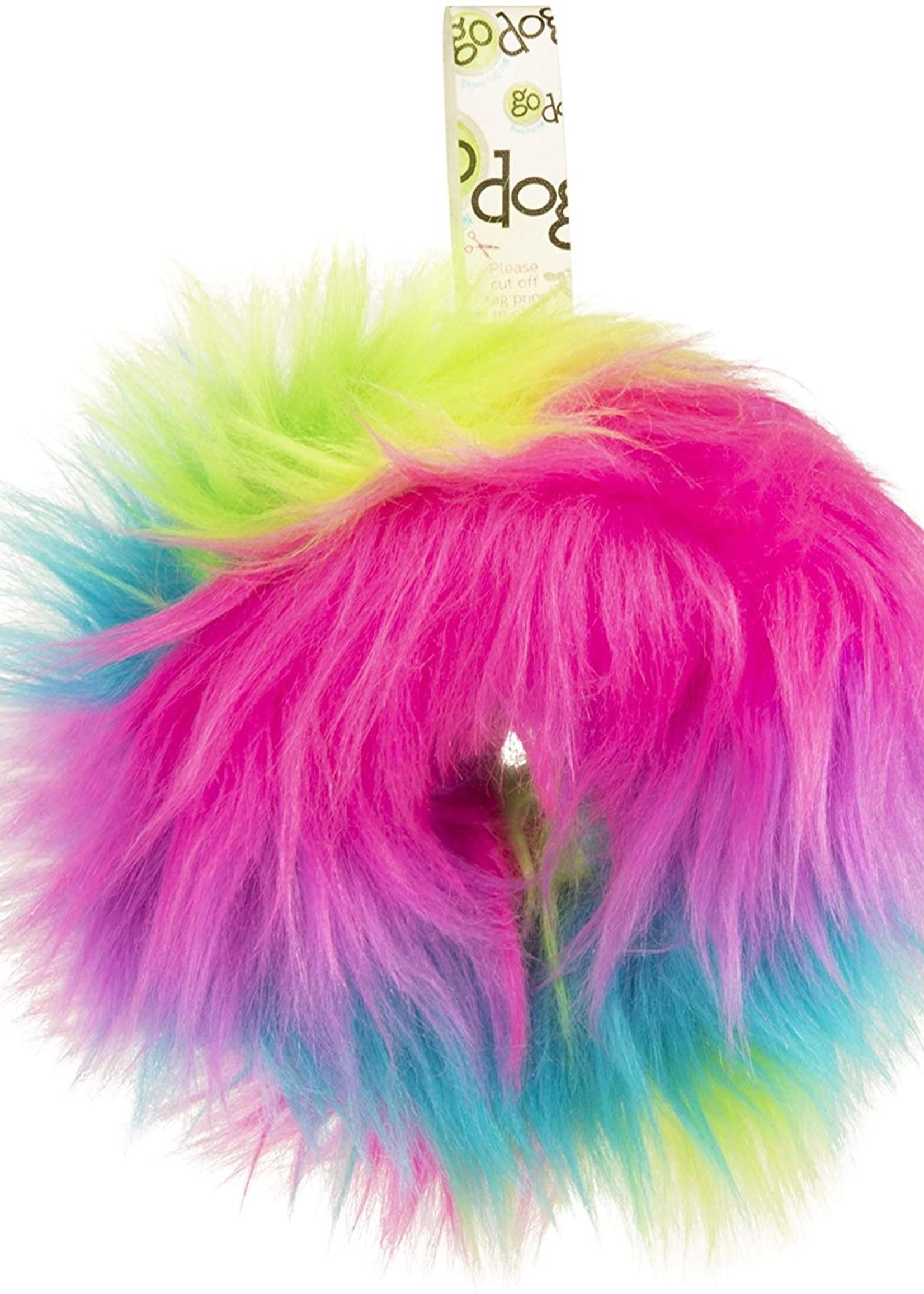 GO DOG GoDog Furballz Ring Rainbow Small Plush