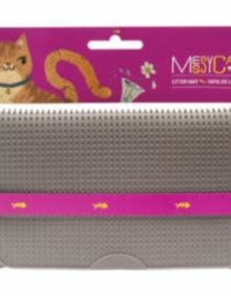 Messy Mutts Messy Mutts Cat Litter Mat Grey