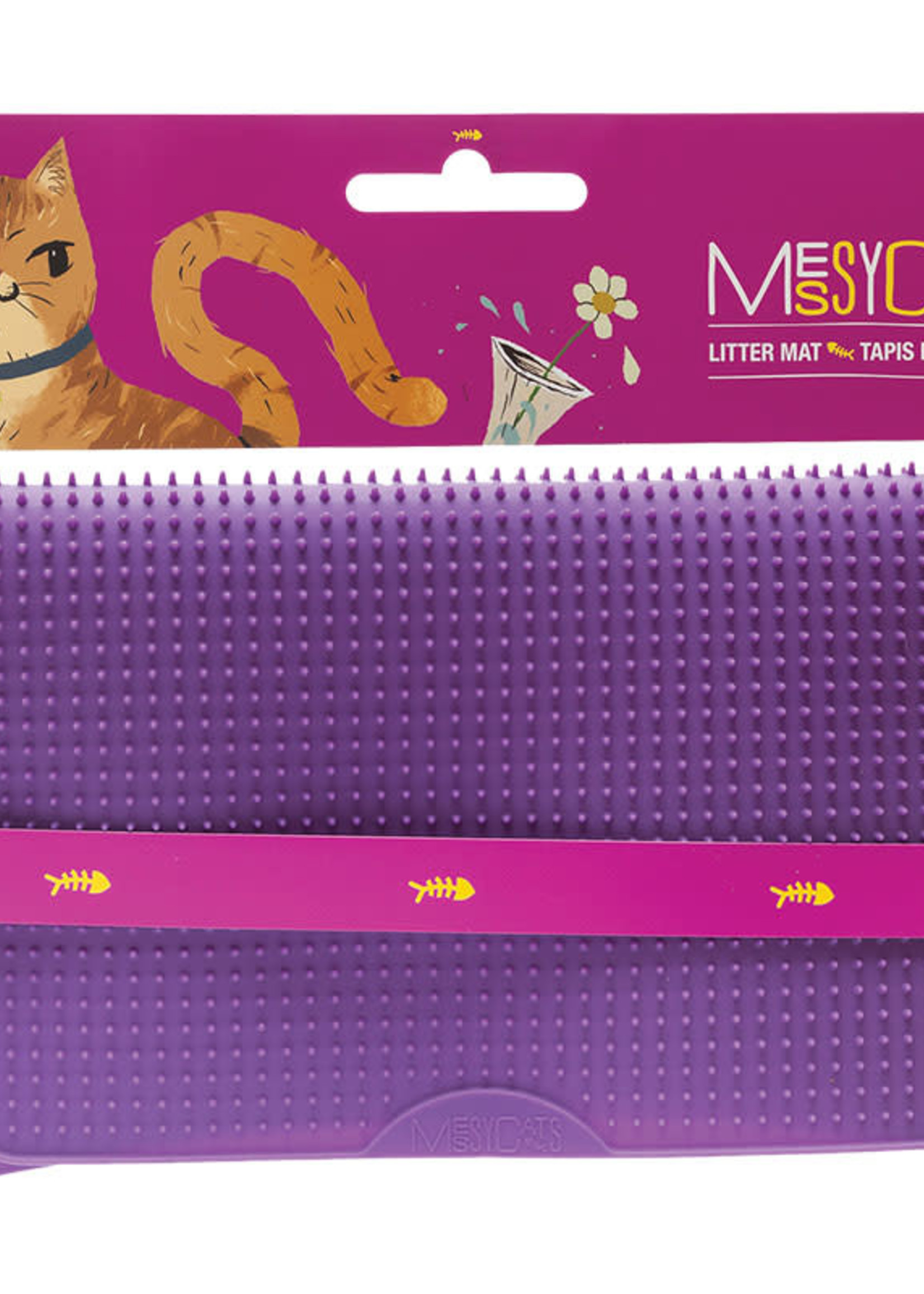 Messy Mutts Messy Mutts Cat Litter Mat Purple