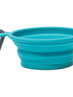 Messy Mutts Messy Mutts Collapsible Bowl Blue 1.5cup