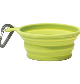 Messy Mutts Messy Mutts Collapsible Bowl Green 1.5cup