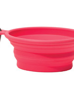 Messy Mutts Messy Mutts Collapsible Bowl Red 1.5cup