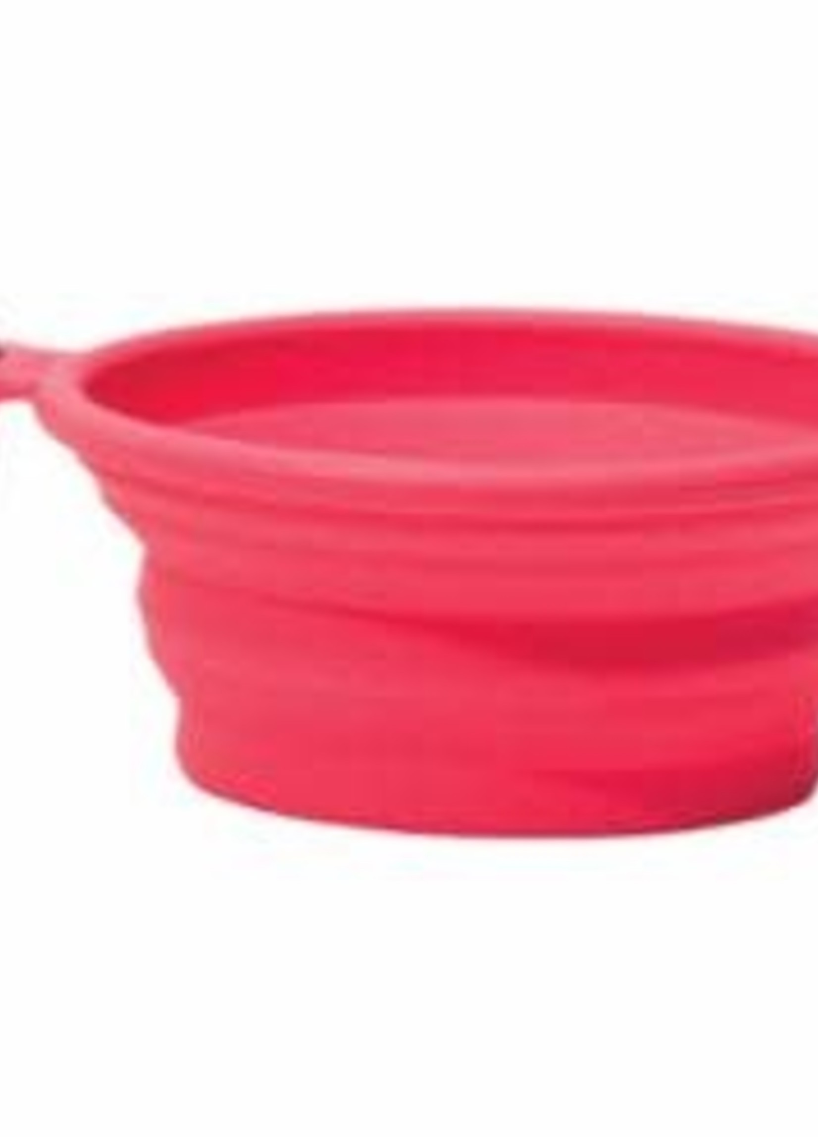 Messy Mutts Messy Mutts Collapsible Bowl Red 3cup