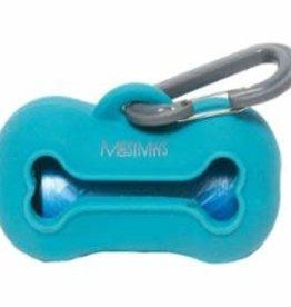Messy Mutts Messy Mutts Dog Wastebag Holder Blue
