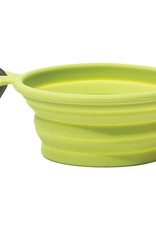 Messy Mutts Messy Mutts Dog Collapsible Bowl Green 3cup