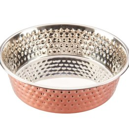 Spot Spot Honeycomb Non Skid Stainless Steel Dog Bowl Copper 2qt