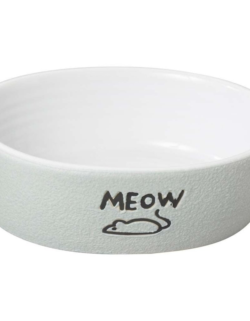 ETHICAL PRODUCT INC Spot Nantucket Meow Cat Bowl Gray 5in