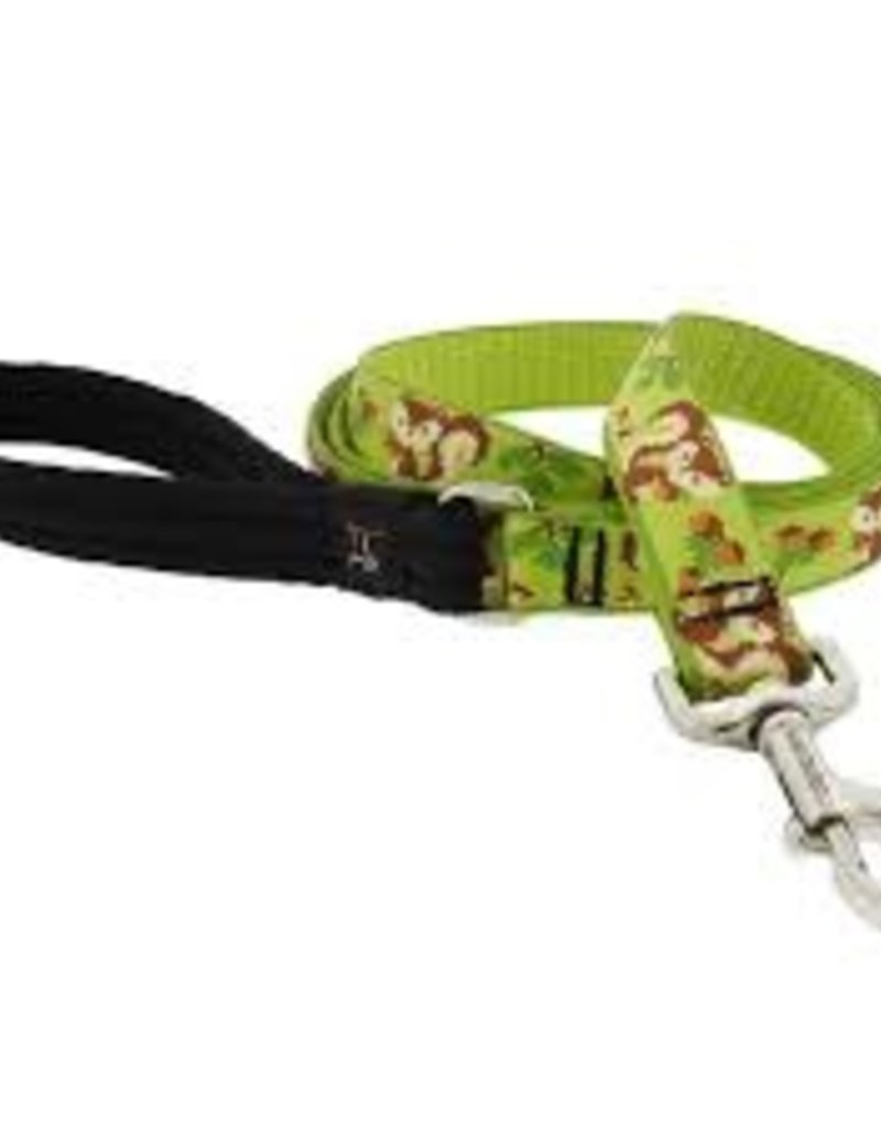 "LupinePet Lupine LIMITED EDITION Leash 1"" Go Nuts 4'"