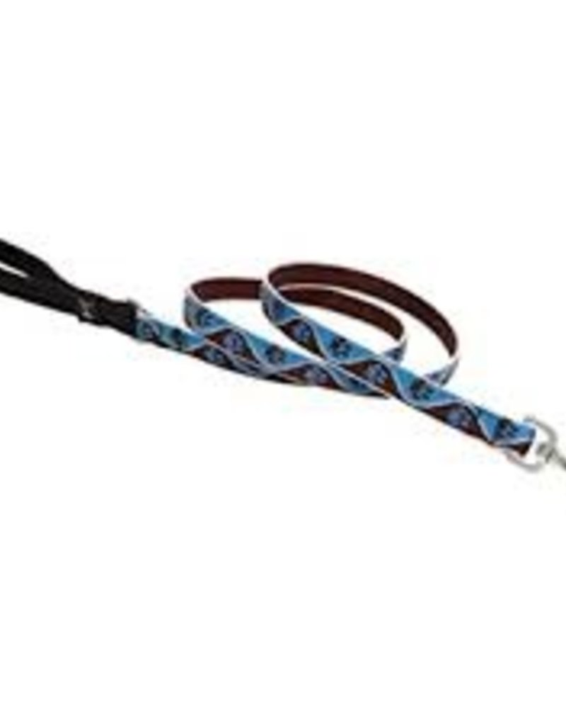 """LupinePet Lupine 1/2"""" Muddy Paws 4ft Leash"""