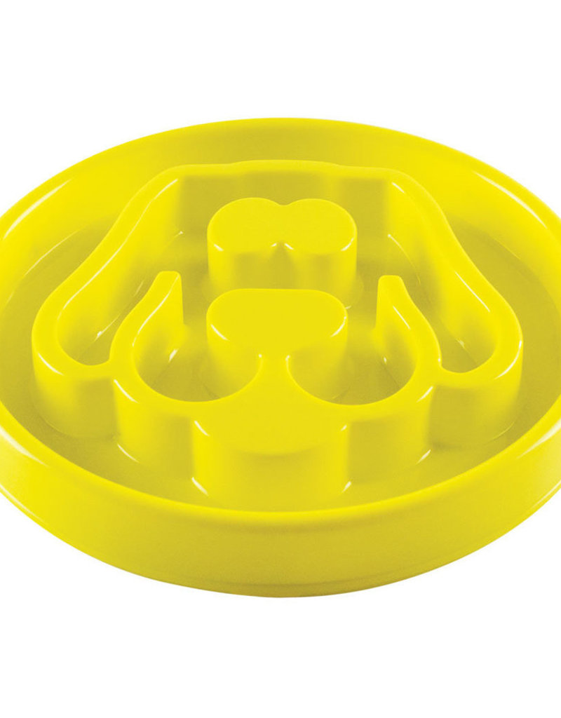 Be One Be One Yellow Large Dog Slow Feeder Bowl