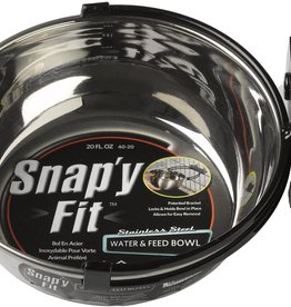 MidWest Homes for Pets Snap'y Fit 4 Fl Cups Stainless Steel Bowl