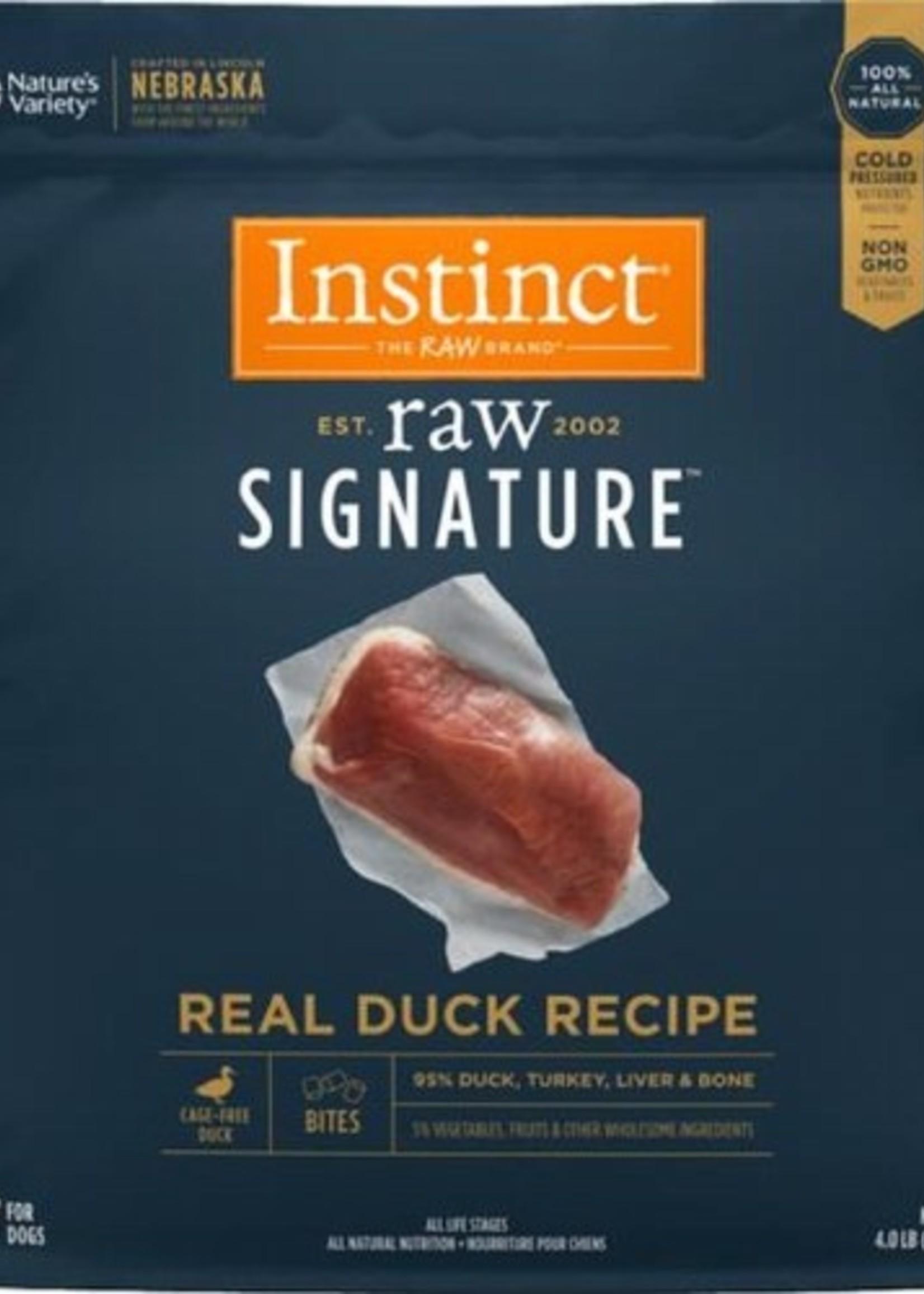 Nature's Variety Instinct Dog Frozen Raw Duck Bites 4 lbs