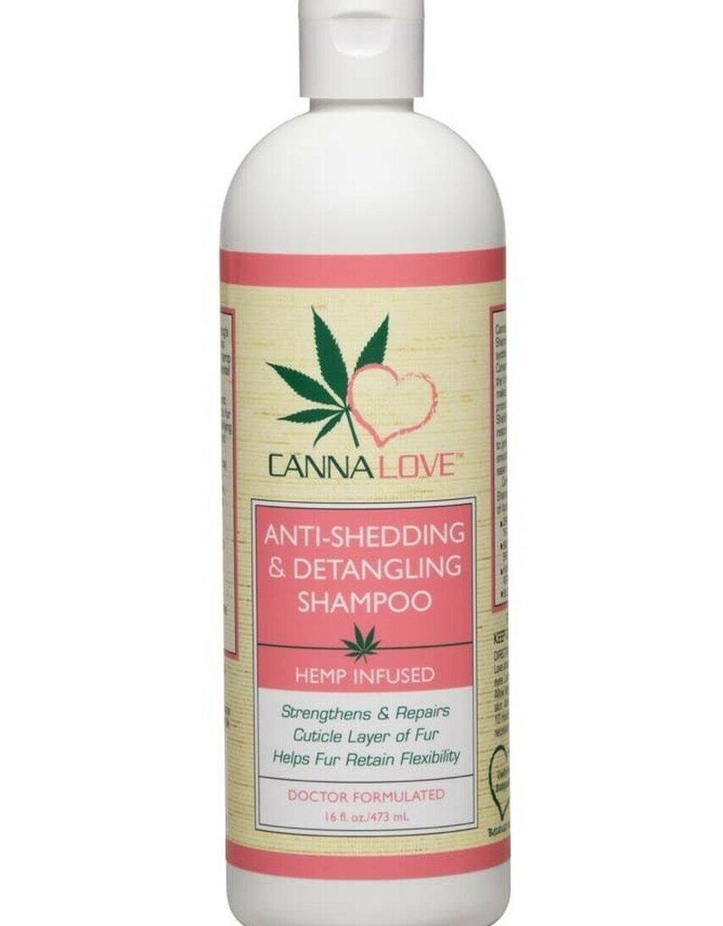 PET FX LLC CannaLove Anti-Shedding & Detangling Hemp Infused Dog Shampoo 16oz