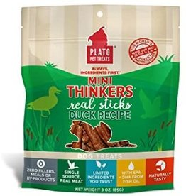 Plato Pet Treats - KDR Plato Mini Thinkers Duck 3oz