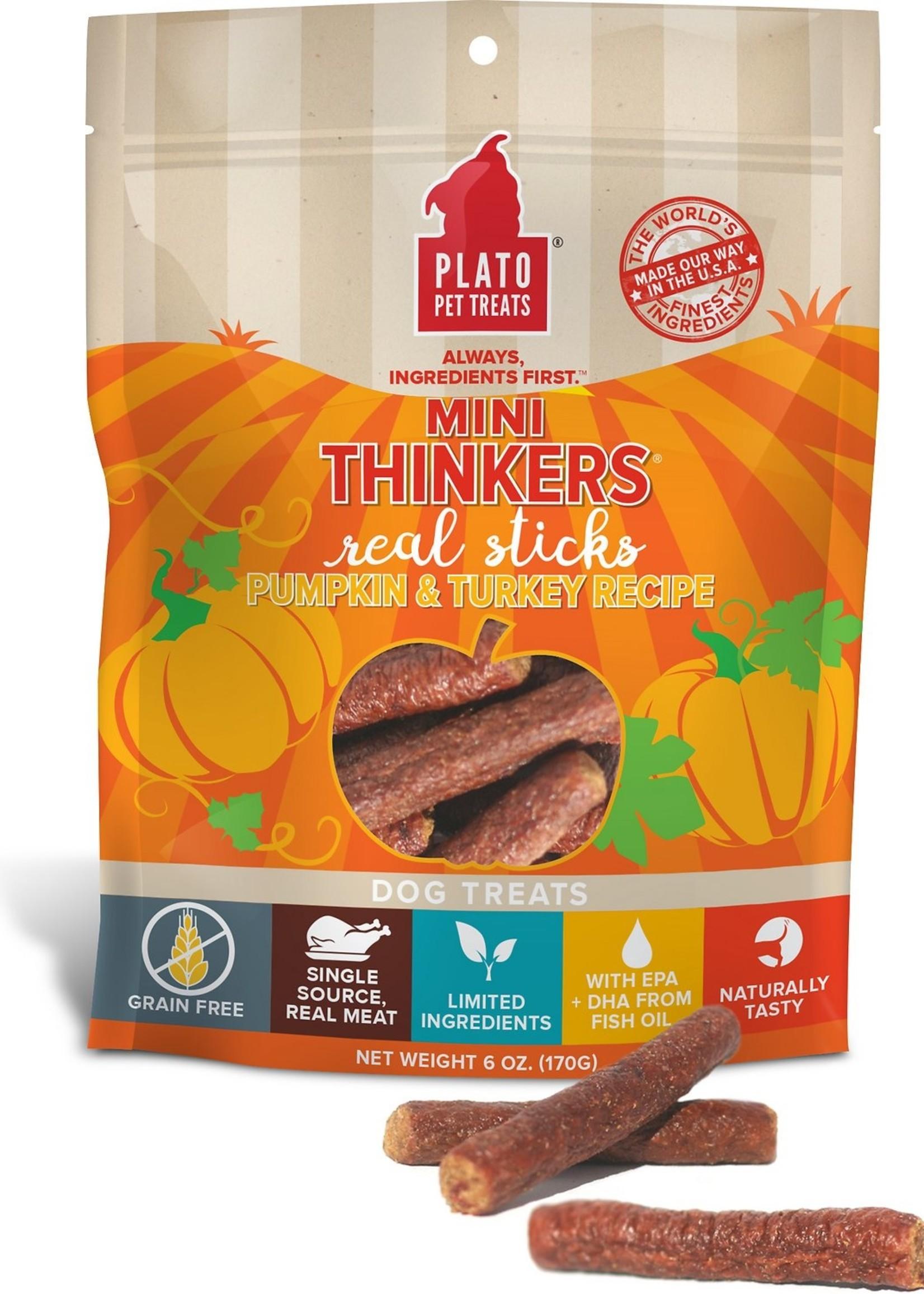 Plato Pet Treats - KDR Plato Mini Thinkers Turkey & Pumpkin 6oz