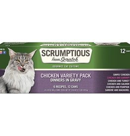 Scrumptious Scrumptious Cat Chicken Variety Pack 2.8oz
