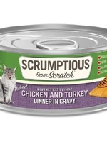 Scrumptious Scrumptious Cat Chicken, Turkey, and Gravy 2.8oz