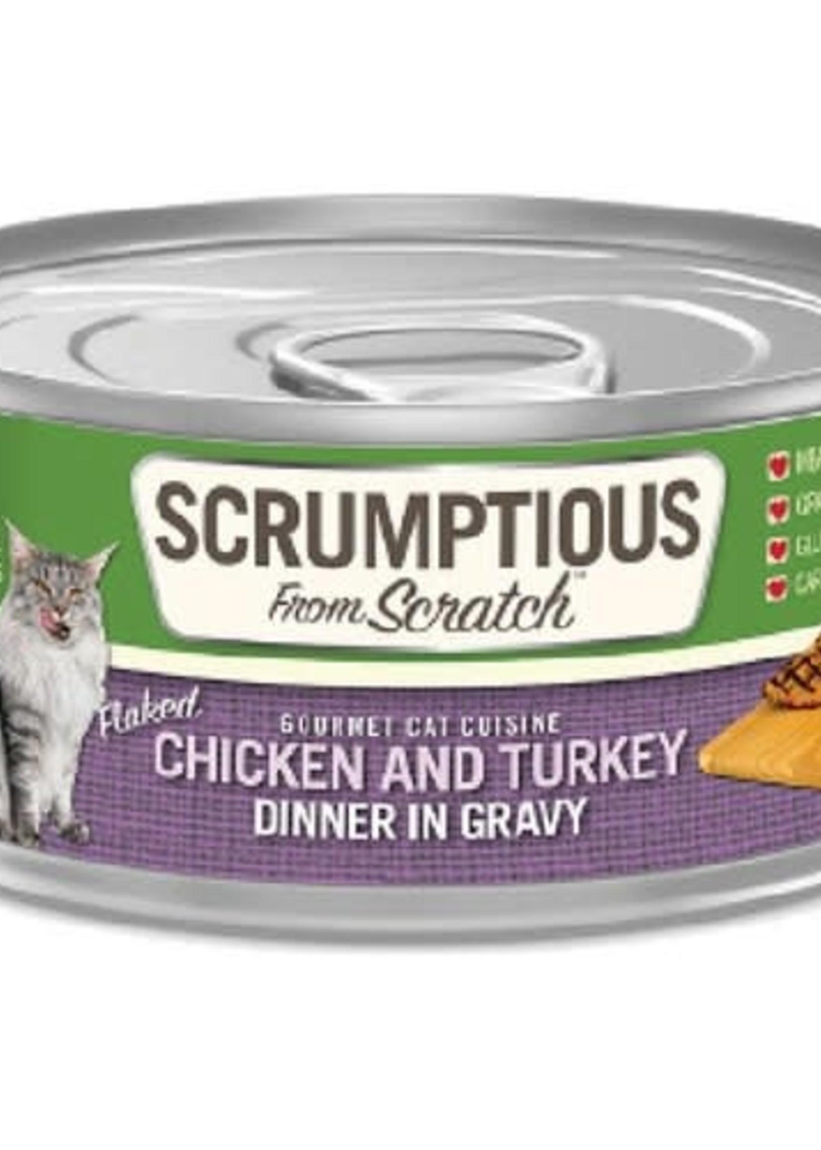 Scrumptious Scrumptious Cat Chicken, Turkey, and Gravy 2.8oz