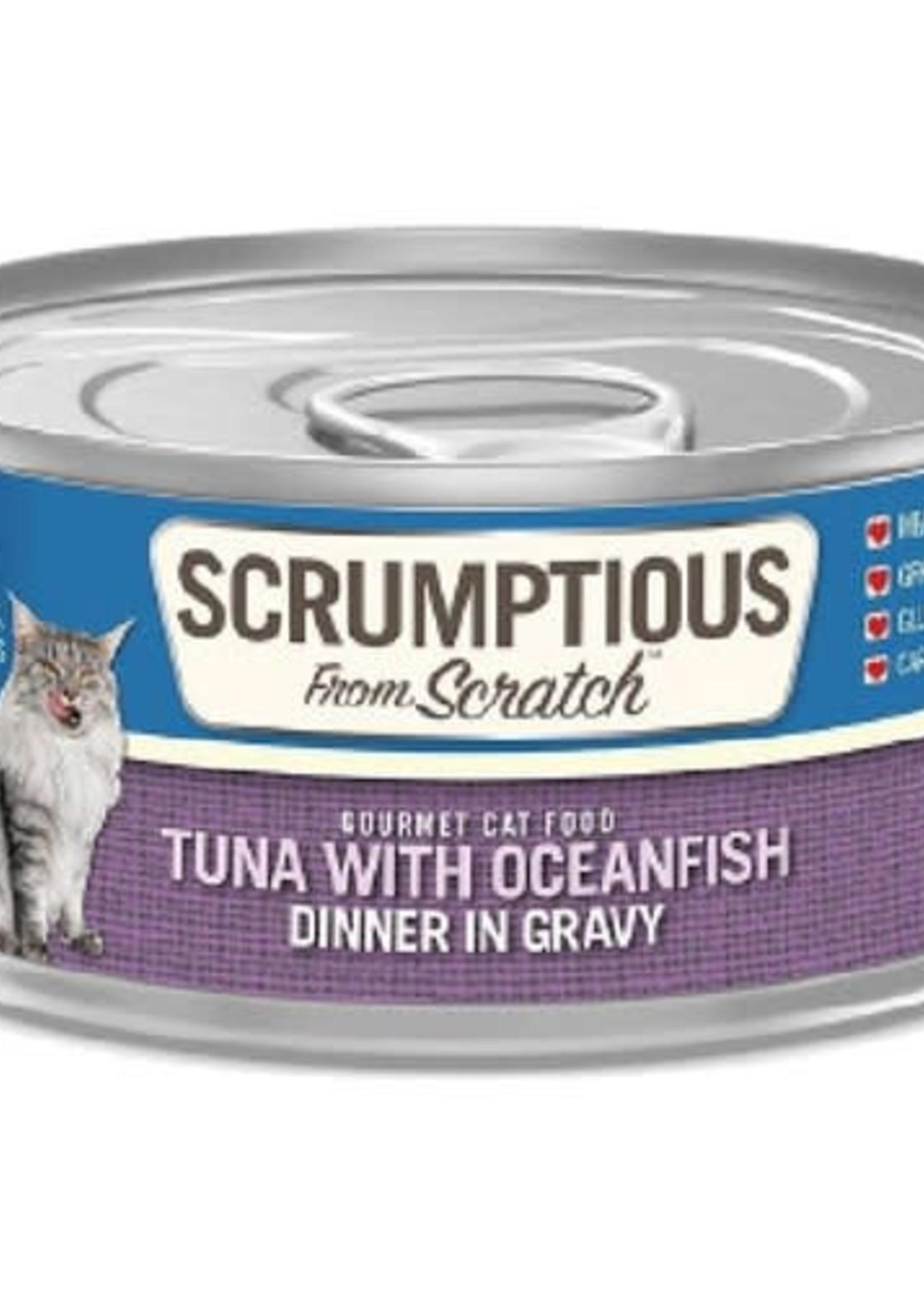 Scrumptious Scrumptious Cat Tuna, Oceanfish, and Gravy 2.8oz