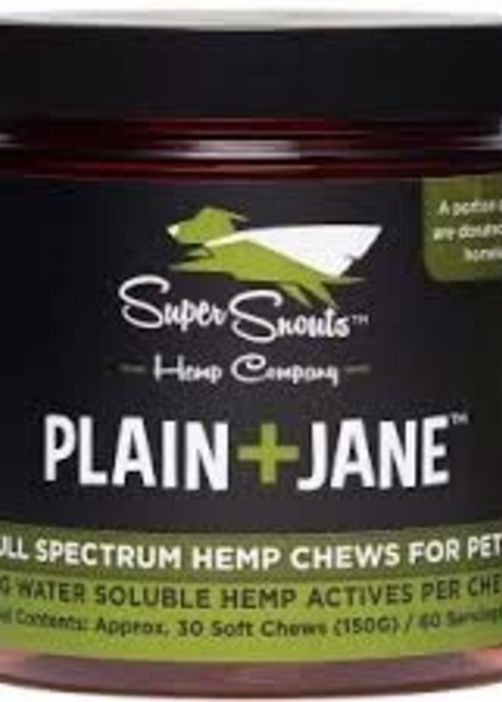 Super Snouts Super Snouts Dog Broad CBD Chew Plain Jane 30ct