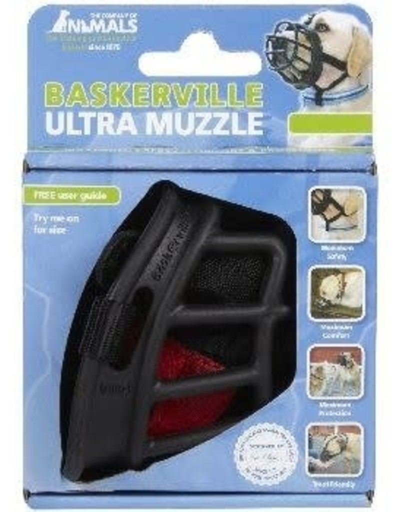 The Company of Animals Baskerville Ultra Muzzle - 6 Blk