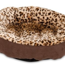 ASPEN PET PRODUCTS Aspen Pet Round Dog Bed Animal Print 18in