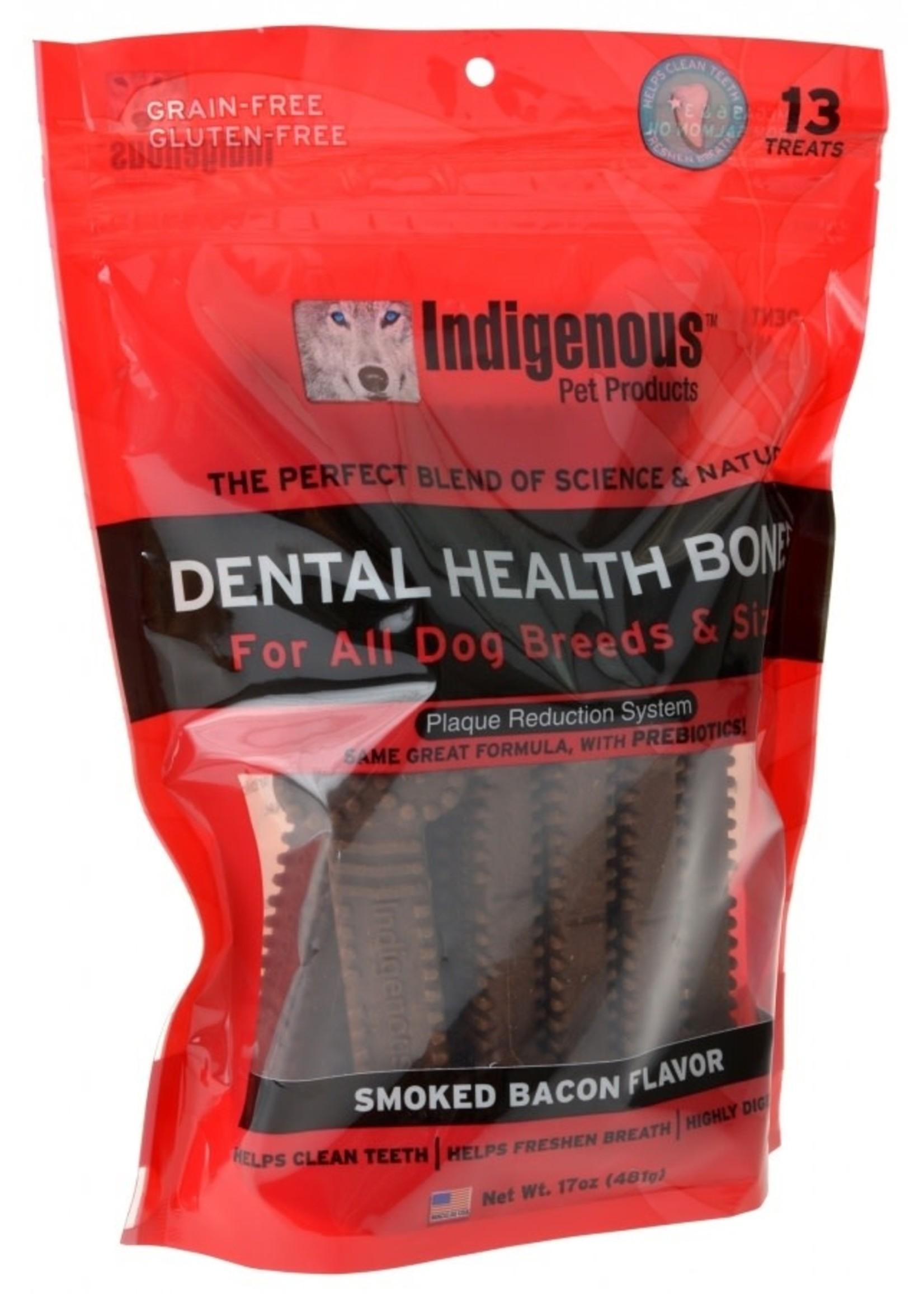 Indigenous Indigenous Dental Bone Smoked Bacon 17z 13 treats