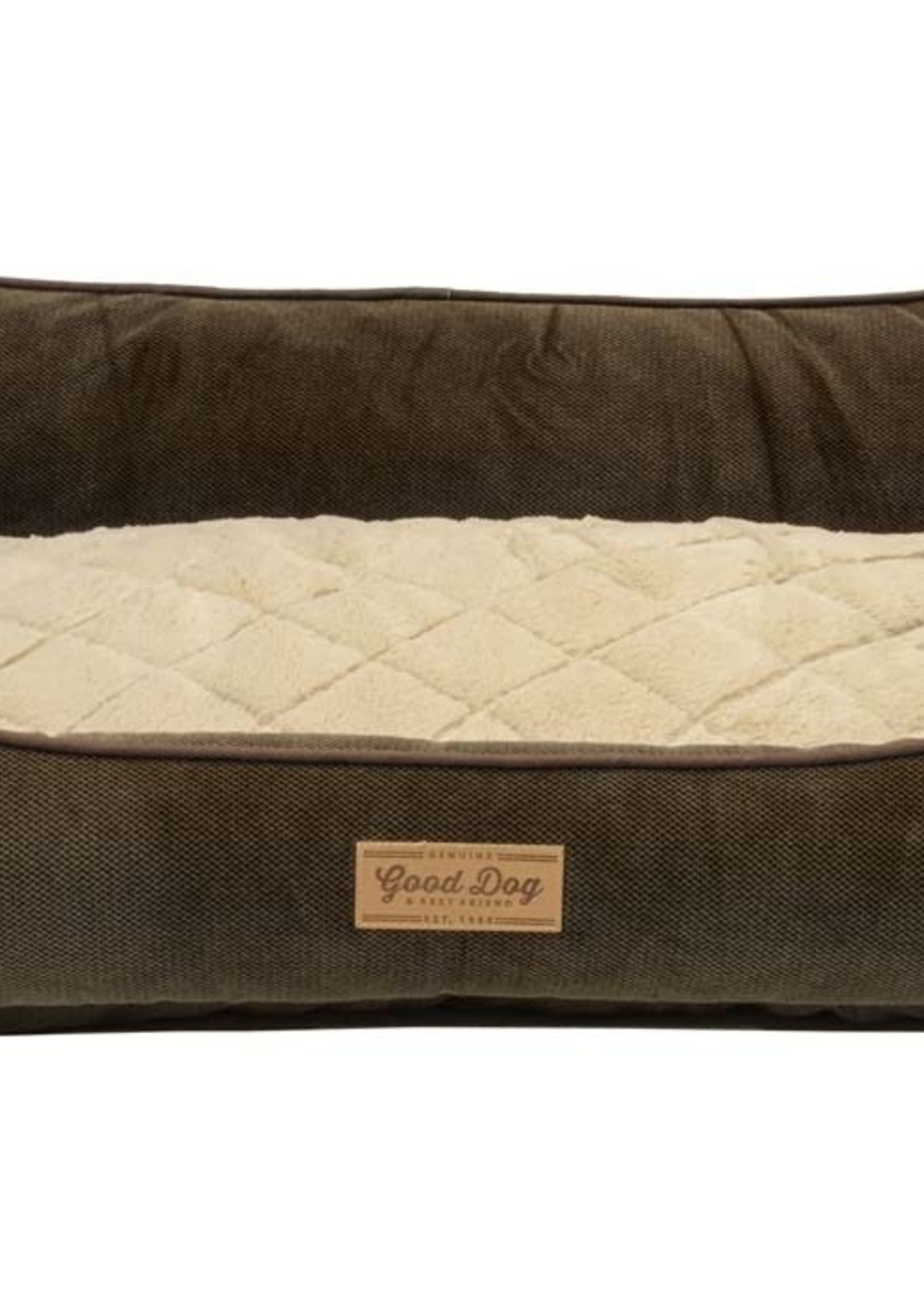CENTRAL PET HOME ESSENTIALS DMC Dallas Manufacturing Textured Quilted Box Bed 40 x 30in