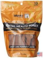 Indigenous Indigenous Dental Bone Carrot and Pumpkin 17z 13 treats
