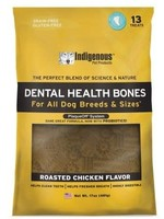 Indigenous Indigenous Dental Bone Roasted Chicken 17z 13 treats