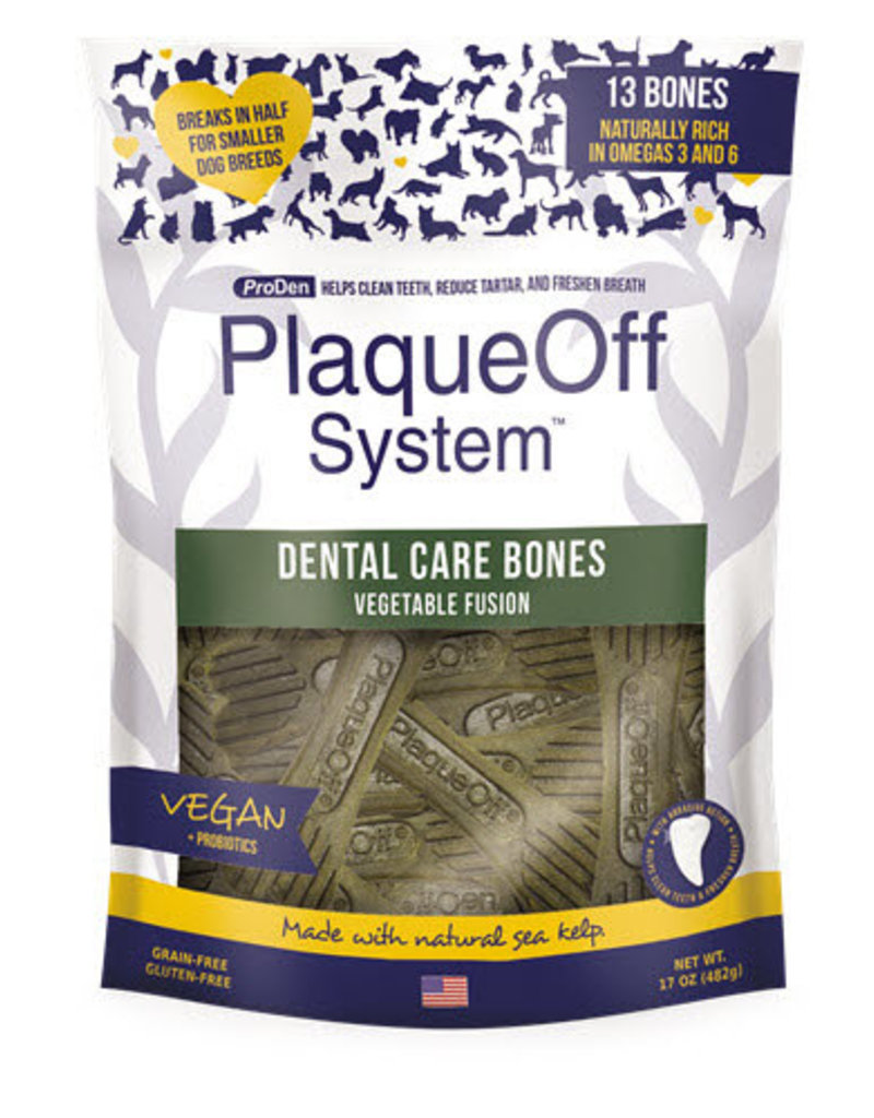 Plaque Off by Swedencareusa Plaque Off Dog Dental Bones Vegetable Fusion 17 oz