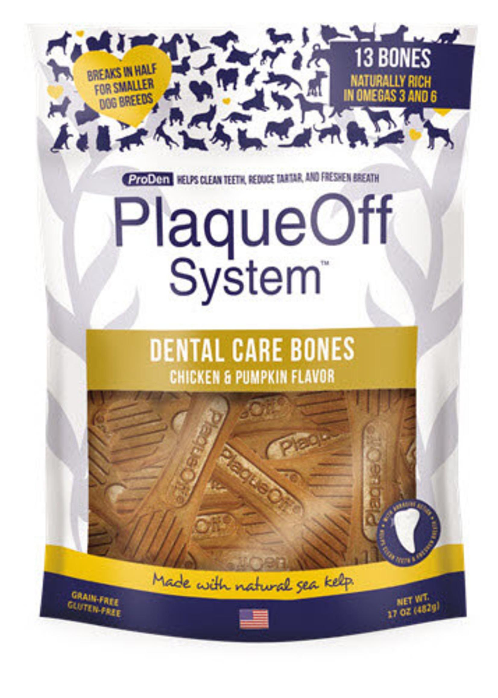 Plaque Off by Swedencareusa Plaque Off Dog Dental Care Bones Chicken and Pumpkin 17 oz