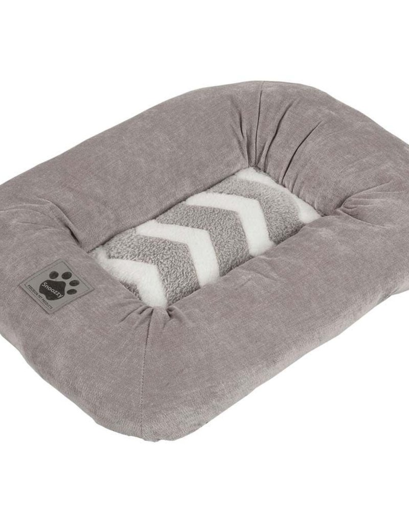 PRECISION PET PRODUCTS INC Petmate Zig Zag Low Bumper Kennel Mat Gray X-Small